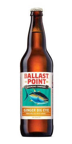 Ginger Big Eye Beer Ballast Point IPA