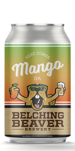 Here Comes Mango IPA by Belching Beaver Brewery