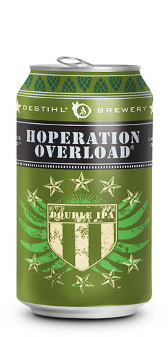 Destihl Brewery Hoperation Overload Double IPA Beer