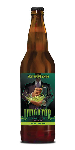 Litigator Imperial IPA by Worthy Brewing Co.