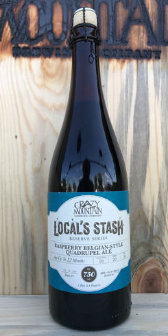 Local's Stash: Raspberry Belgian Style Quad by Crazy Mountain Brewing Co.