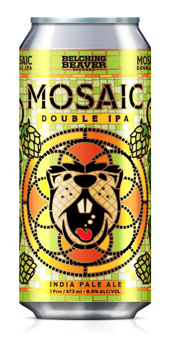 Mosaic Double IPA, Belching Beaver Brewery