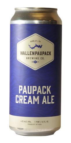 Paupack Cream Ale, Wallenpaupack Brewing Co.