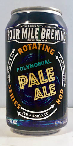 Polynomial Pale Ale, Four Mile Brewing