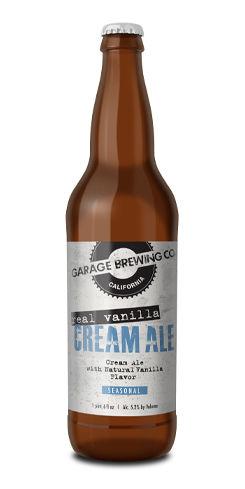 Real Vanilla Cream Ale, Garage Brewing Co.