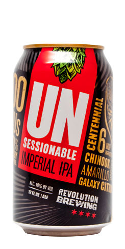 Unsessionable Imperial IPA Revolution Beer
