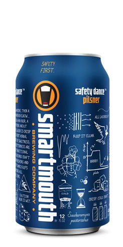 Safety Dance Pilsner by Smartmouth Brewing Co.