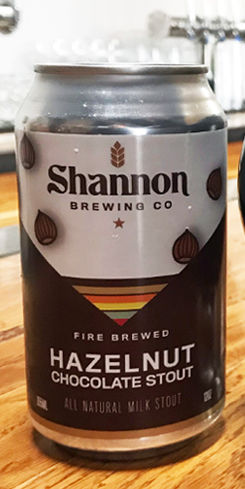 Shannon Hazelnut Chocolate Stout, Shannon Brewing Co.