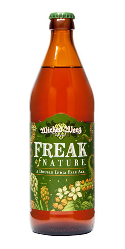 Freak of Nature Double IPA Wicked Weed Beer