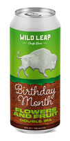 Birthday Month Flowers and Fruit Double IPA, Wild Leap Brew Co.