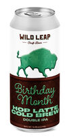 Birthday Month Hop Latte Cold Brew Double IPA, Wild Leap Brew Co.