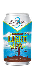 Floating Dock Light IPA by 3 Daughters Brewing