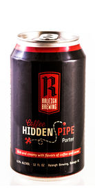 Coffee Hidden Pipe Porter Raleigh Brewing Beer