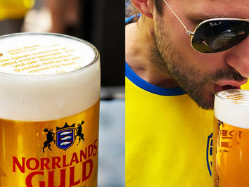 Swedish Brewery Norrlands Guld Prints World Cup Tweets on Beer Foam