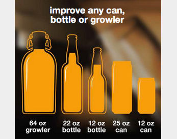 Improve any can, bottle or growler.