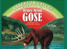 anderson valley briney melon gose label sour beer