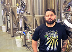 JR Heaps, Owner and Head Brewer  |  Photo courtesy South County Brewing Co.