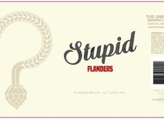 Stupid Flanders Red Ale by The Unknown Brewing Co.