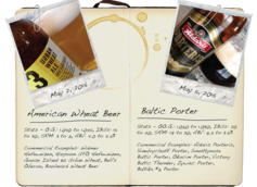 American Wheat Beer & Baltic Porter