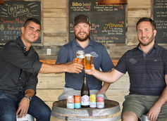 CEO Chris Herron, Brewmaster Adam Beauchamp and Head Brewer David Stein | Photo Courtesy Creature Comforts Brewing Co.