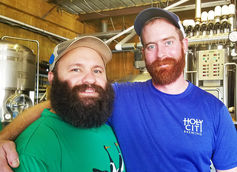 Holy City head brewer Sean Guidera and assistant brewer Jack Pitts