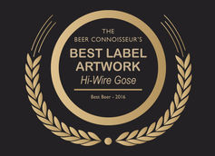 Best Beer Label Artwork of 2016 - Hi-Wire Gose by Hi-Wire Brewing Co.