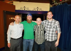 Brewers (left to right): Rob Kevwitch, Nate Wannlund, Steve Nolan, Tyler Swaim