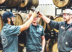 Breckenridge Head Brewer Carl Heinz (right) and Barrel Master Eddie Varela (left)