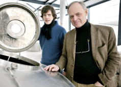 Owner Frank Boon (right) and his son Jos, Brouwerij Boon