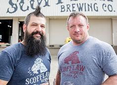 Scofflaw Brewing Co. founders Matt Shirah (left) and Travis Herman.