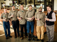 Flying Bison Brewer Colin Herzog (third from the right)