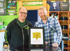 Funkwerks Co-Founder/Head Brewer Gordon Schuck and Co-Founder Brad Lincoln