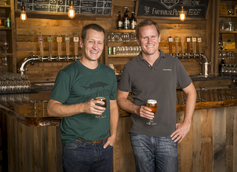 Eric McKay, president and co-founder and Patrick Murtaugh brewmaster and co-founde of Hardywood Park