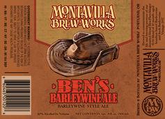Montavilla Brew Works First Bottled Beer Ben's Barleywine