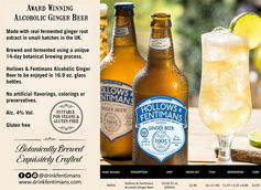 Hollows & Fentimans Alcoholic Ginger Beer Now Available in the US