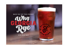 StillFire Brewing's Rye Georgia Rye Returns