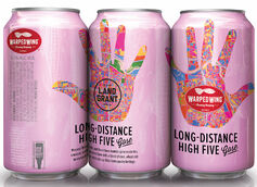 Warped Wing Brewing and Land-Grant Brewing Co. Team Up on Long-Distance High Five Gose
