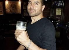 Monte Bezell Drinking A Guinness