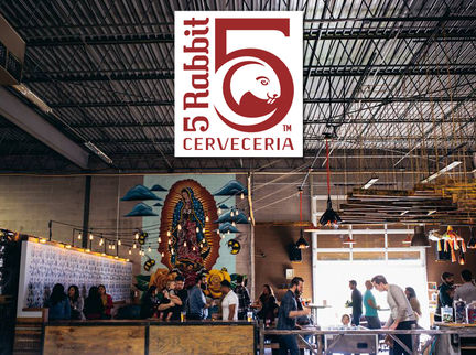 5 Rabbit Cervecería Signs with Artisanal Imports