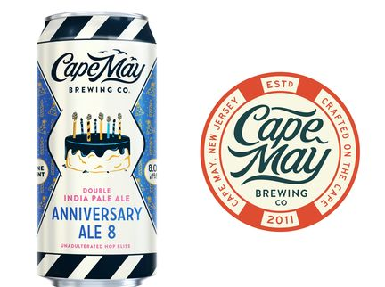Cape May Brewing Co. Celebrates 8th Anniversary with Double IPA Release