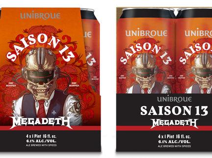 Unibroue Announces Second Collaboration with Megadeth: Saison 13