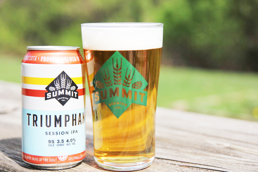 triumphant summit brewing co. low-calorie beer
